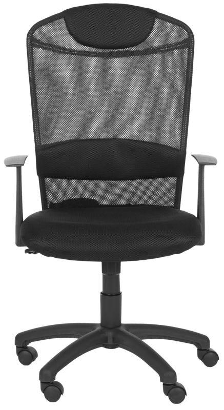 Safavieh FOX8504 Shane Desk Chair Black Furniture Office Chairs