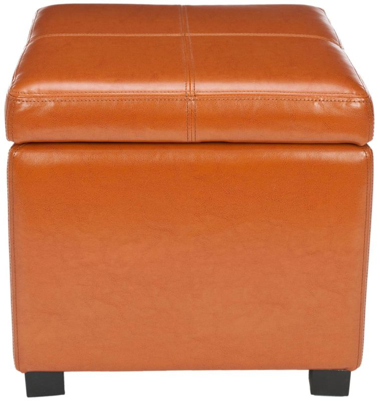 Safavieh HUD8228 Madison Square Ottoman Saddle Furniture Square