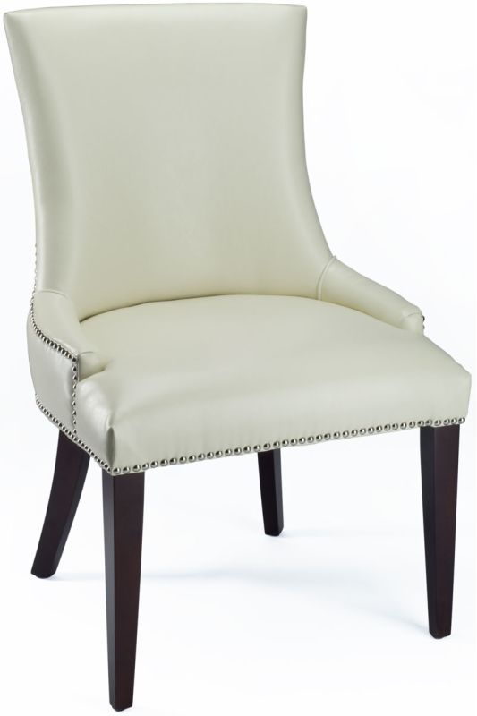 Safavieh MCR4502 Becca Linen Dining Chair Flat Cream Furniture Dining