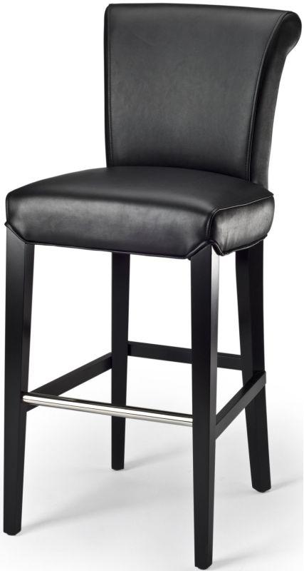 Safavieh MCR4510 Seth Birch Bar Stool Black Furniture Bar Stools