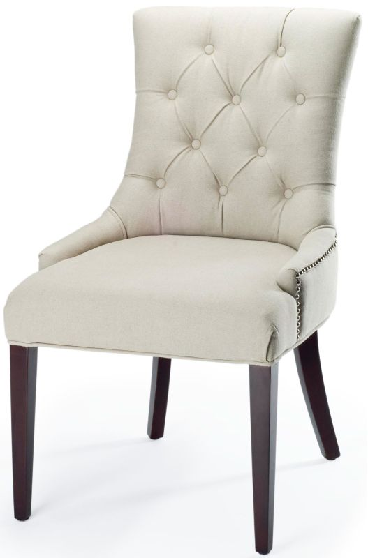 Safavieh MCR4515 Amanda Birch Chair Taupe Furniture Dining Chairs