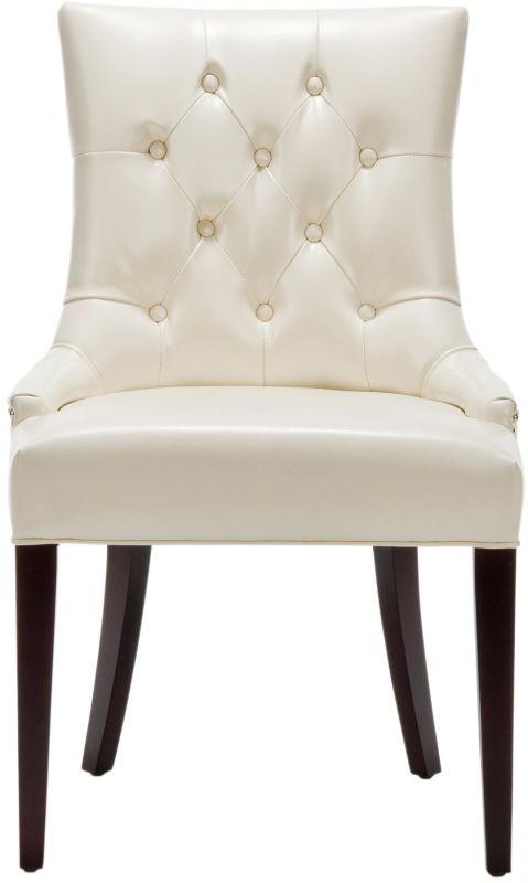 Safavieh MCR4515 Amanda Birch Chair Flat Cream Furniture Dining Chairs
