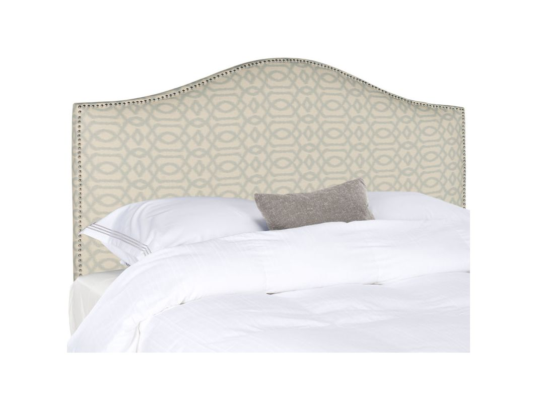 Safavieh Connie Wheat and Blue Headboard Linen Blend Headboard in