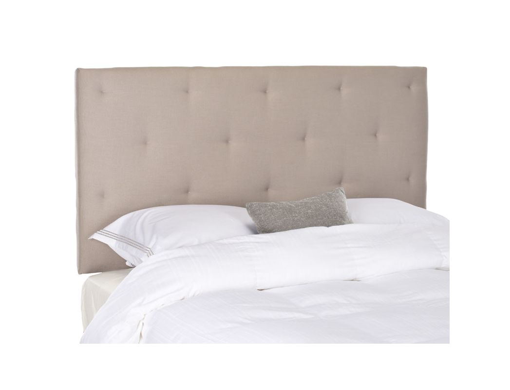 Safavieh Martin Taupe Headboard Linen Headboard in Taupe Queen