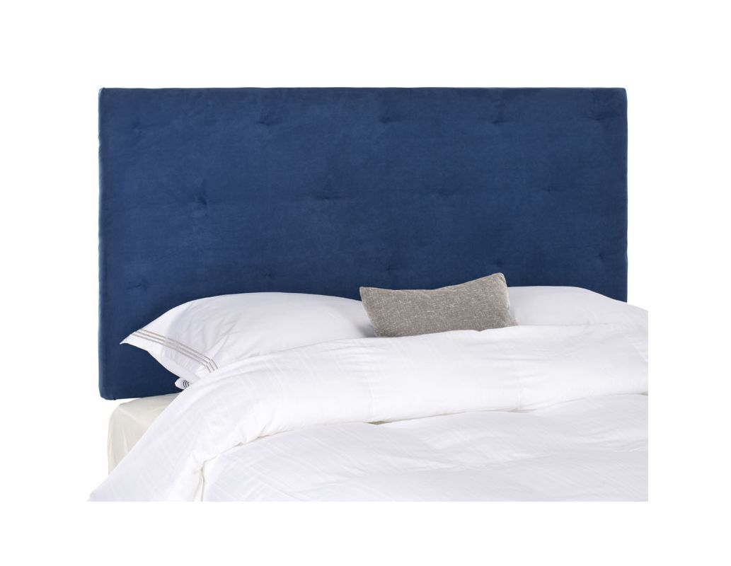 Safavieh Martin Navy Headboard Polyester Headboard in Navy Queen