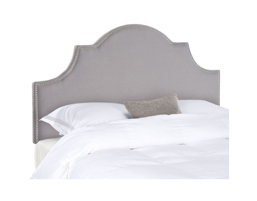 Safavieh Hallmar Arctic Grey Arched Headboard Cotton Blend Headboard