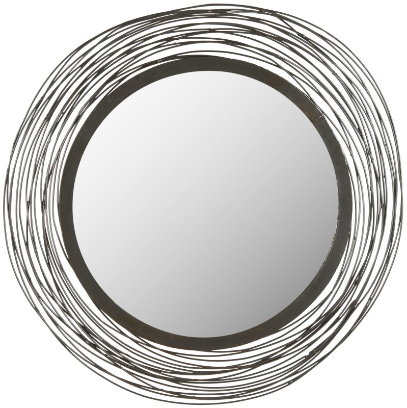"Safavieh MIR4011 21"" Diameter Circular Mirror from the Wired Wall"