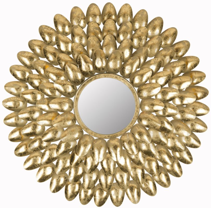 "Safavieh MIR4028 27.5"" Diameter Circular Mirror from the Royal Leaf"