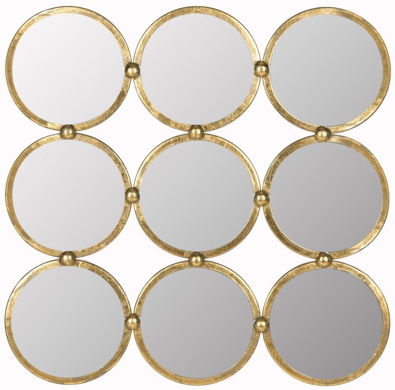 "Safavieh MIR4030 27.5"" x 27.5"" Mirror from the Circles In the Square"