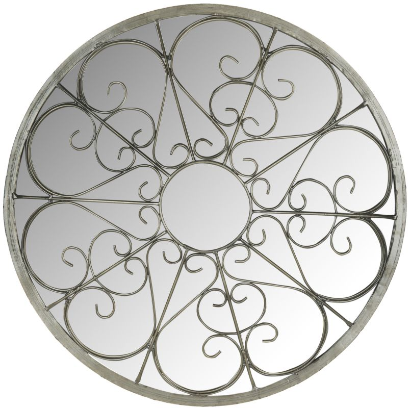 "Safavieh MIR4036 26"" Diameter Circular Mirror from the Austin Filigree"