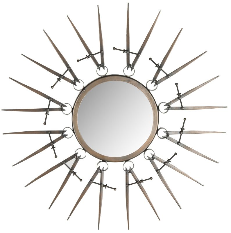 "Safavieh MIR4039 23"" Diameter Circular Mirror from the Compass Point"
