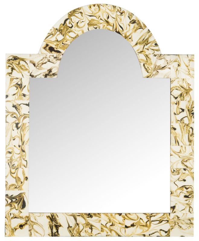 """Safavieh MIR4050 30"""" x 24"""" Arched Mirror from the Antibes Arched"""