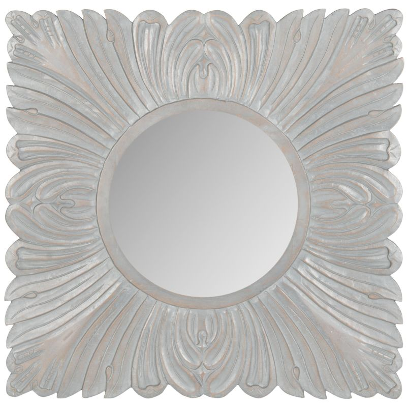 "Safavieh MIR5001 28"" x 28"" Framed Circular Mirror from the Acanthus"