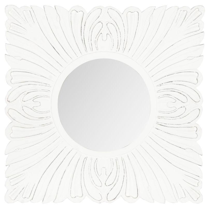 "Safavieh MIR5001 28"" x 28"" Framed Circular Mirror from the Acanthus"