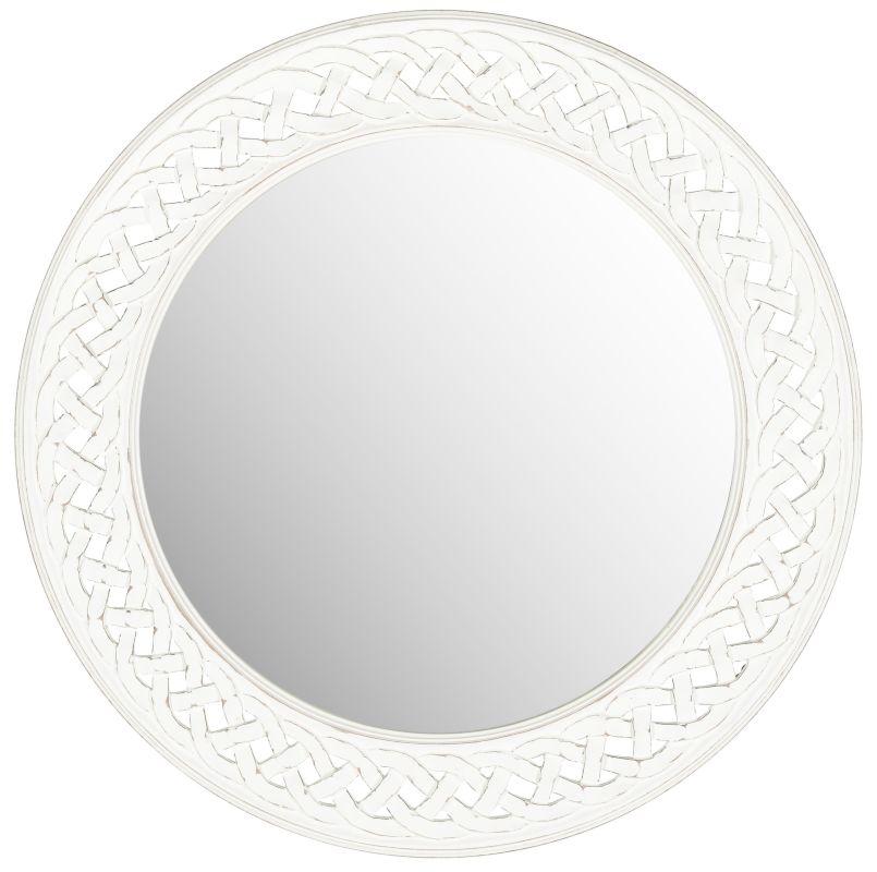 """Safavieh MIR5005 24"""" Diameter Circular Mirror from the Braided Chain"""
