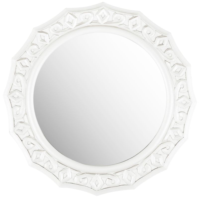 "Safavieh MIR5006 25"" Diameter Circular Mirror from the Gossamer Lace"
