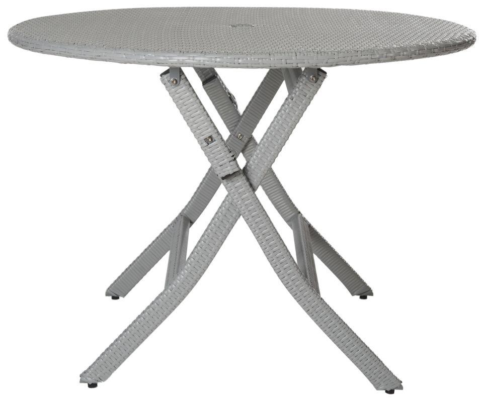 Safavieh PAT2001 Grey Ellis Outdoor Round Folding Dining Table Grey