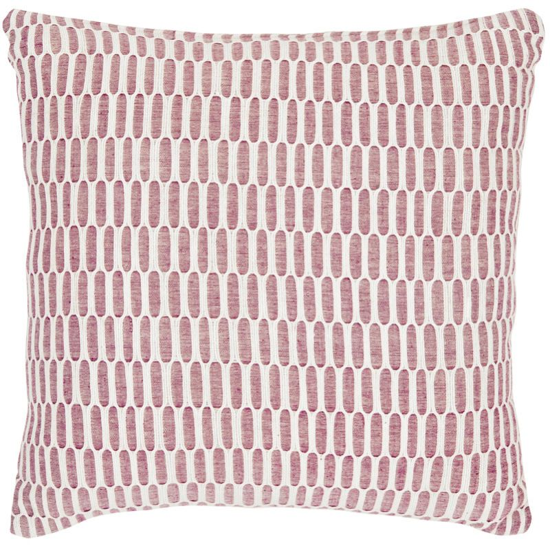 Safavieh PIL406A Square Red Honeycomb Pillow from the Embroidered