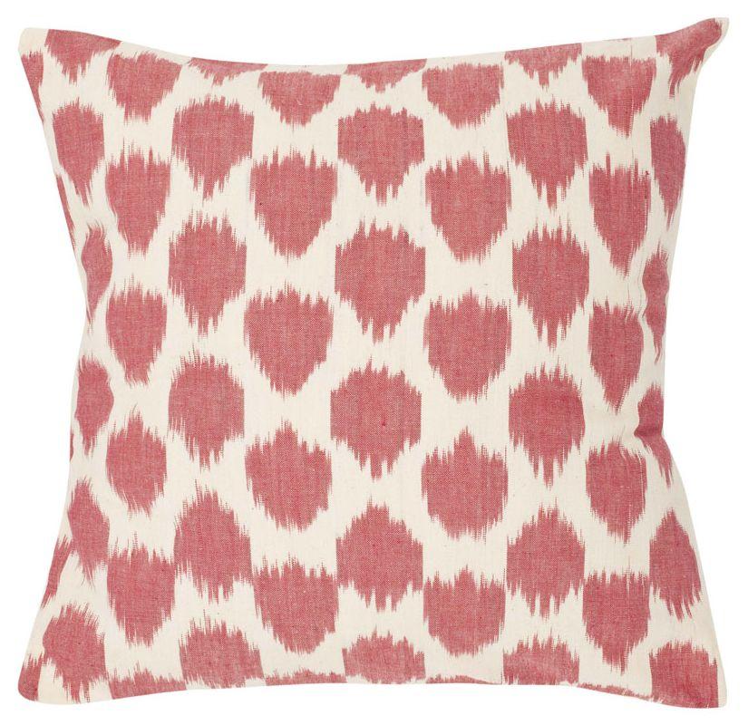 Safavieh PIL504A Rectangular Rose Polka Dots Pillow from the Bohemian