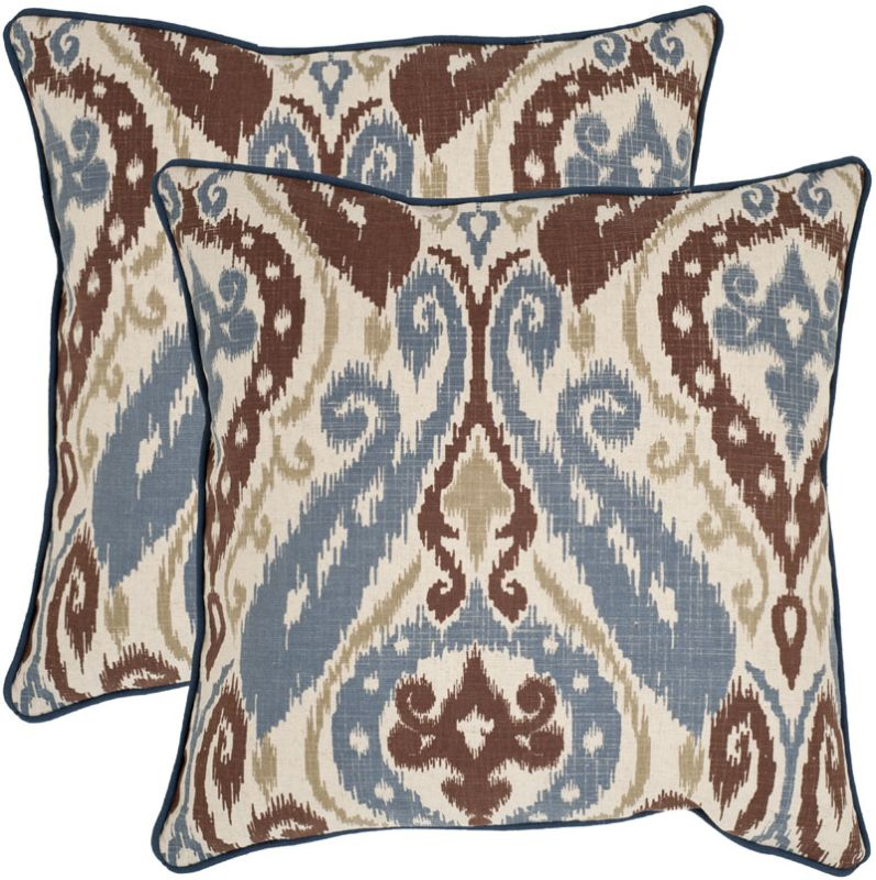 Safavieh PIL925A Square Brown Charlie Pillow with Feather Filling from Sale $52.40 ITEM: bci2765525 ID#:PIL925A-1818-SET2 UPC: 683726938972 :