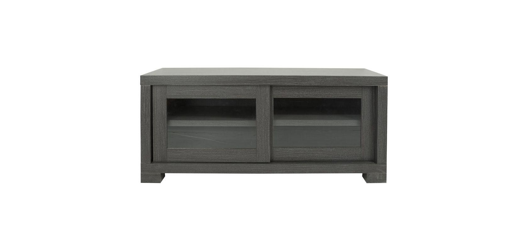 Safavieh SEA1003 Davis Sliding Door TV Cabinet Dark Grey / Charcoal /