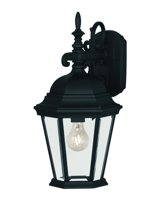 Savoy House 07077 1 Light Outdoor Wall Sconce from the Exterior Sale $96.00 ITEM: bci241435 ID#:07077-BLK UPC: 822920001765 :