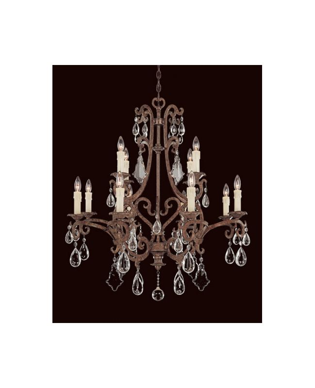 "Savoy House 1-1403-12 Florence 12 Light 33"" Wide 2 Tier Chandelier"
