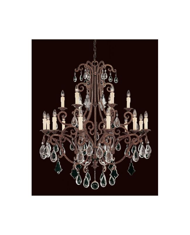 "Savoy House 1-1404-18 Florence 18 Light 40"" Wide 2 Tier Chandelier"