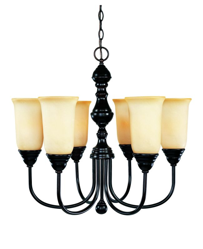"Savoy House 1-1701-6 Sutton Place 6 Light 24"" Wide 1 Tier Chandelier"
