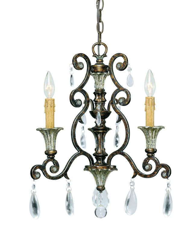 "Savoy House 1-3000-3 St. Laurence 3 Light 17"" Wide 1 Tier Chandelier"