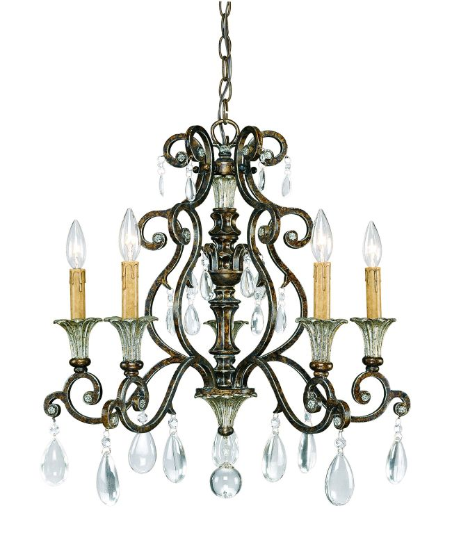 "Savoy House 1-3001-5 St. Laurence 5 Light 23.5"" Wide 1 Tier Chandelier"