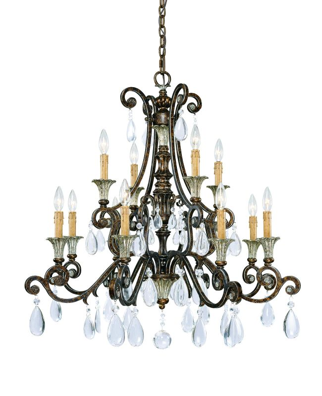 "Savoy House 1-3003-12 St. Laurence 12 Light 34"" Wide 2 Tier Chandelier"