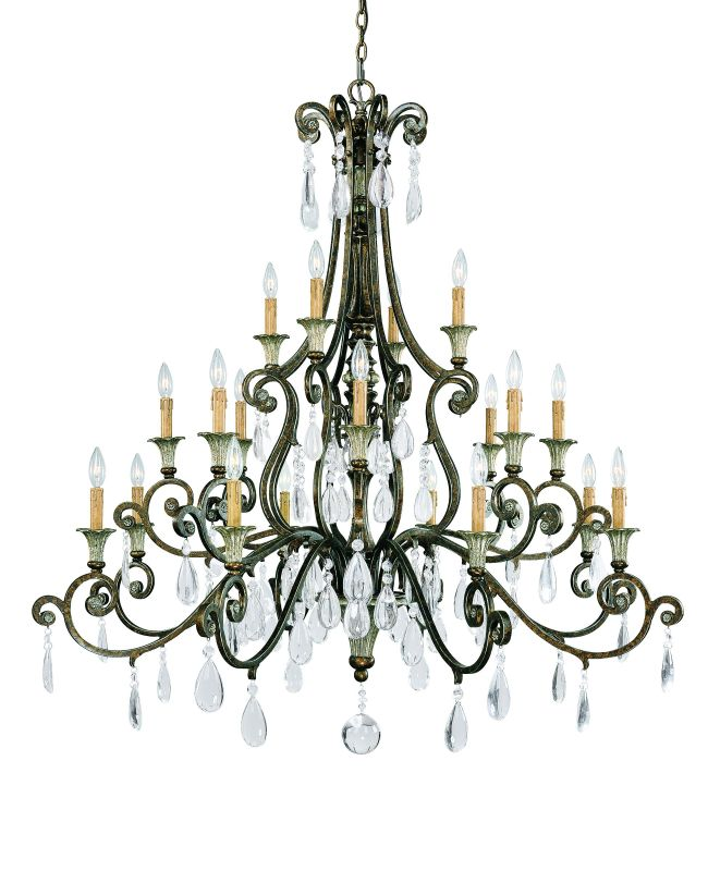 "Savoy House 1-3005-20 St. Laurence 20 Light 52"" Wide 3 Tier Chandelier"