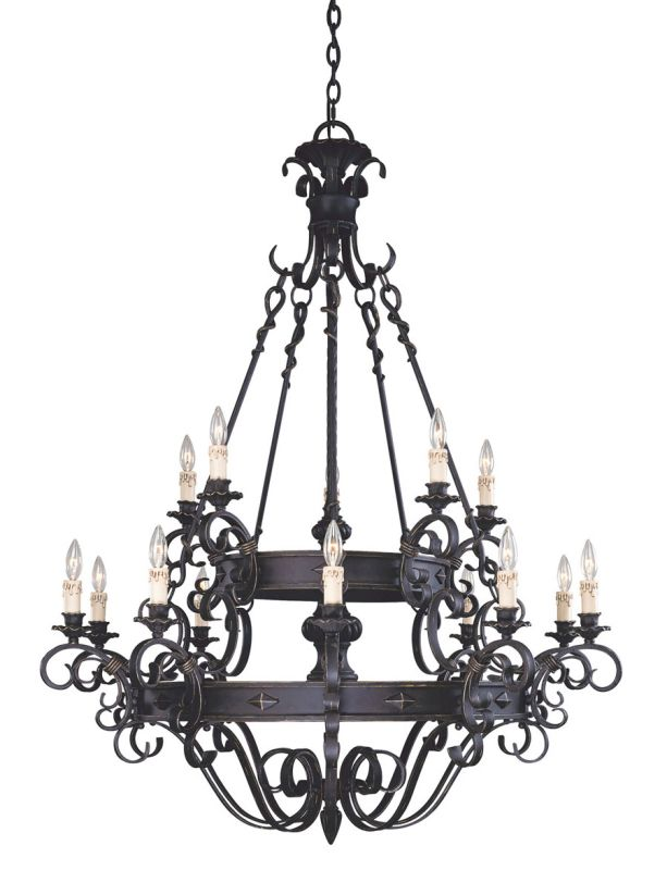 Savoy House 1-4321-15 15 Light Up Lighting Chandelier from the Bourges