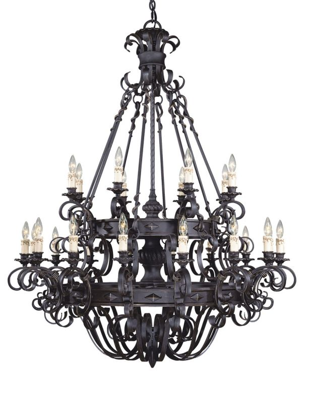Savoy House 1-4322-24 4 Light Up Lighting Chandelier from the Bourges