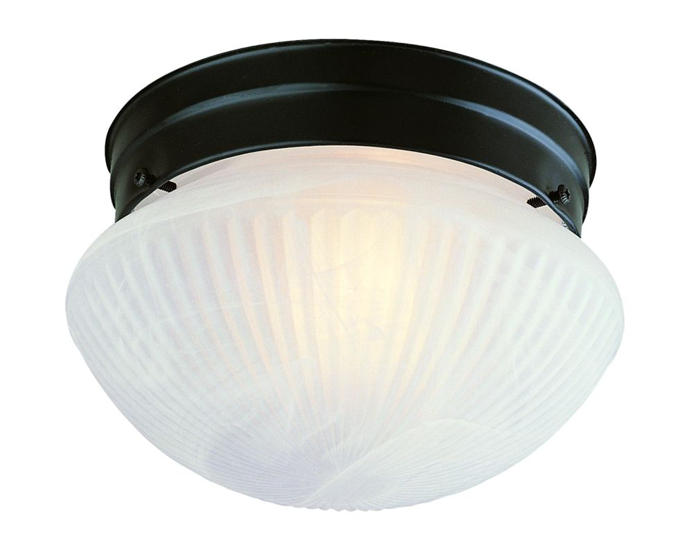 "Savoy House 403 9"" Diameter Flush Mount Ceiling Fixture Flat Black"