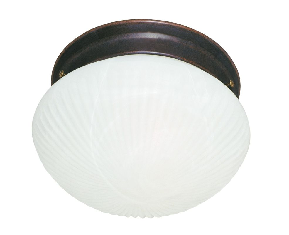 "Savoy House 403 9"" Diameter Flush Mount Ceiling Fixture Brownstone"