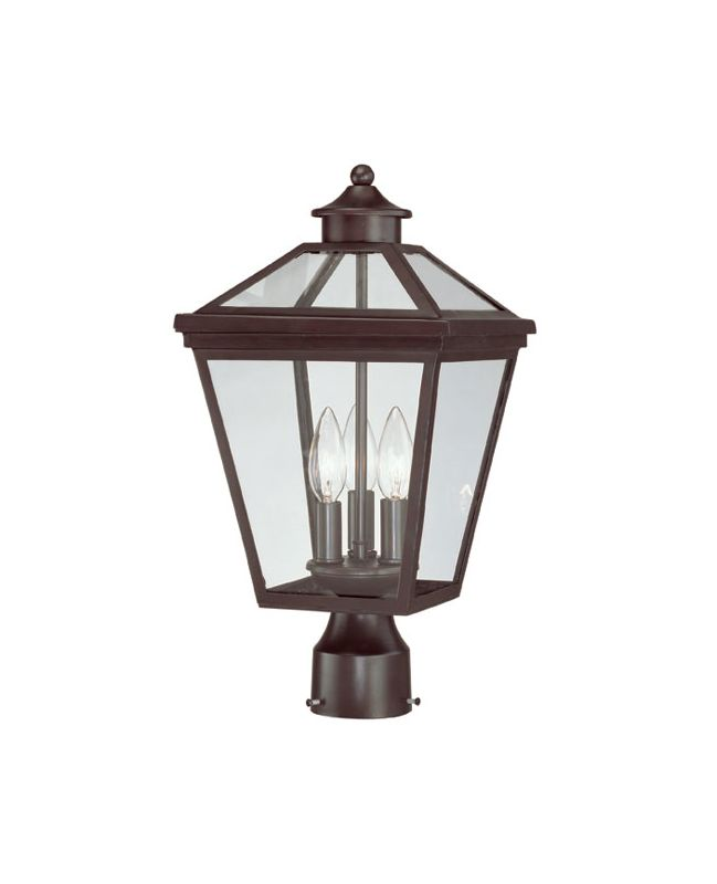 "Savoy House 5-147 Ellijay 3 Light 17.5"" Tall Outdoor Post Light With"