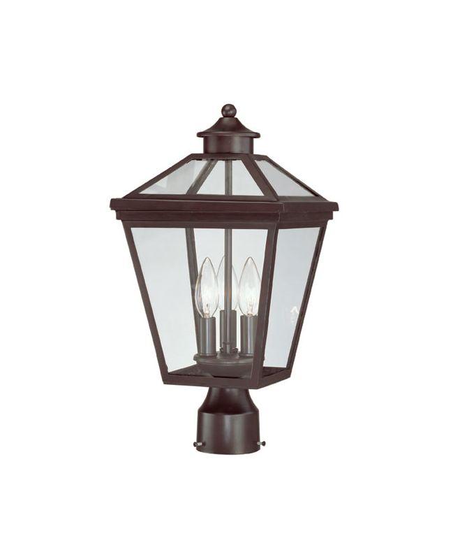 "Savoy House 5-147 Ellijay 3 Light 17.5"" Tall Outdoor Post Light With"