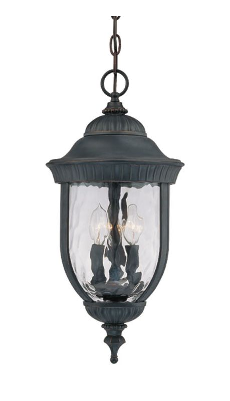 "Savoy House 5-60328 Castlemain 3 Light 10"" Wide Outdoor Pendant Black"