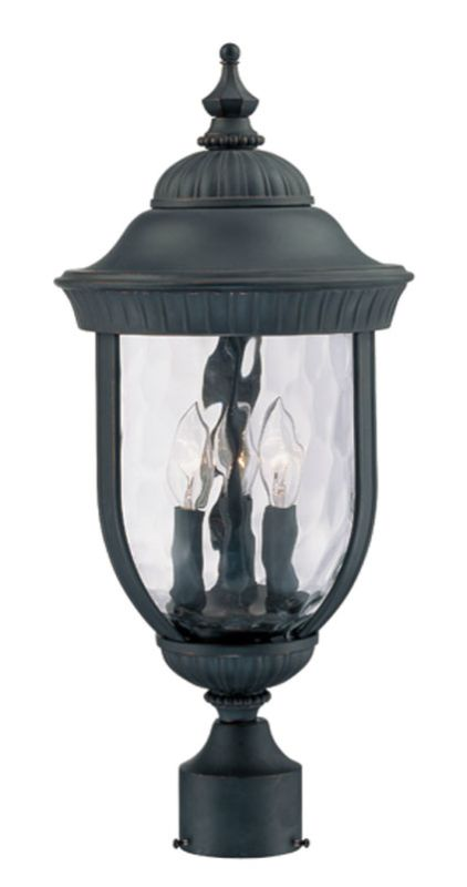"Savoy House 5-60329 Castlemain 3 Light 22.25"" Tall Single Outdoor Post"