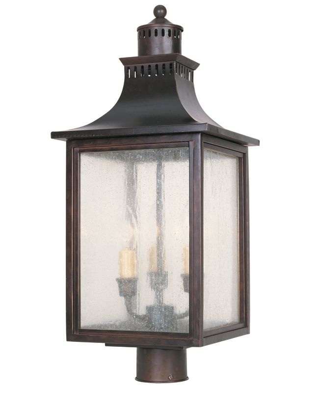 "Savoy House 5-255 Monte Grande 3 Light 23.75"" Tall Single Outdoor Post"