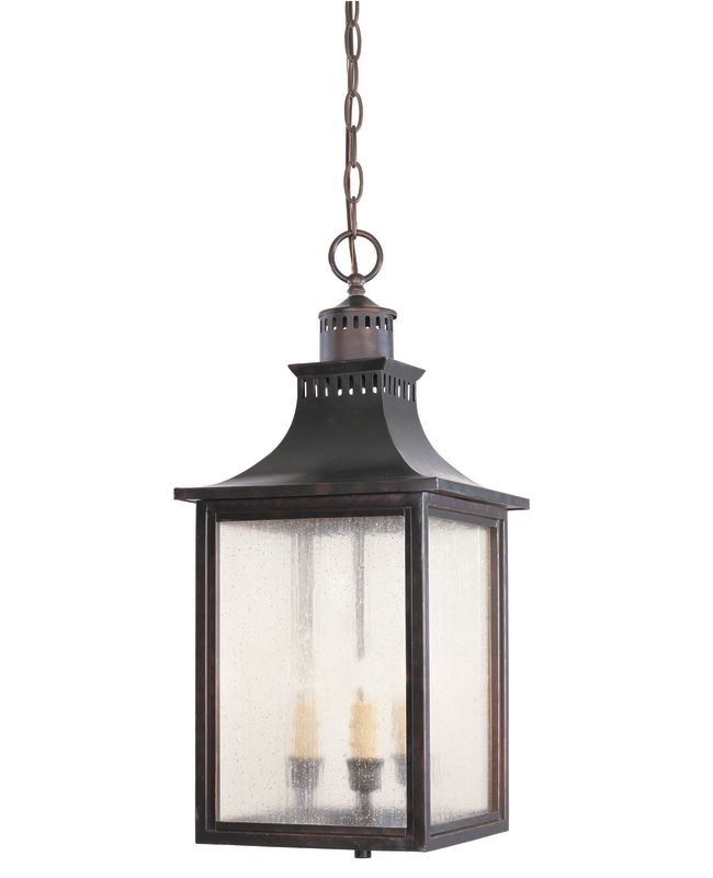 "Savoy House 5-256 Monte Grande 3 Light 10"" Wide Outdoor Pendant"