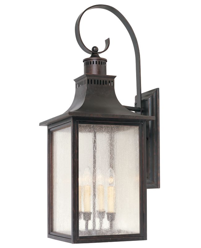 "Savoy House 5-257 Monte Grande 4 Light 34.5"" Tall Outdoor Wall Sconce"