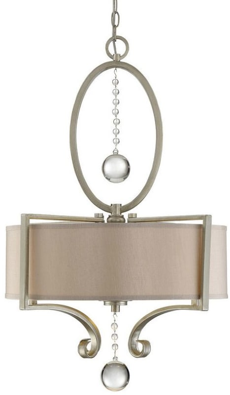 "Savoy House 7-253-3 Rosendal 3 Light 22"" Wide Pendant with Crystal"