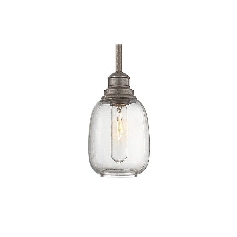 "Savoy House 7-4332-1 Orsay 1 Light 4.75"" Wide Pendant Industrial Steel"