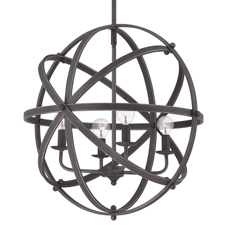 "Savoy House 7-4353-4 Dias 4 Light 20"" Wide Pendant English Bronze"