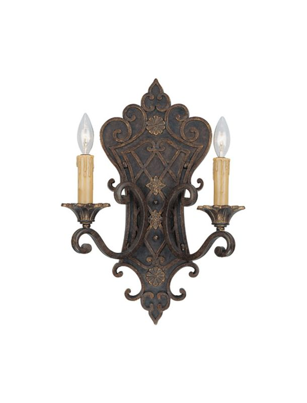 "Savoy House 9-0159-2 Southerby 2 Light 19"" Tall Wall Sconce Florencian"