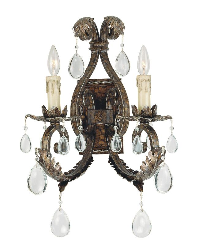 Savoy House 9-5317-2 Up Lighting Wall Sconce from the Chastain
