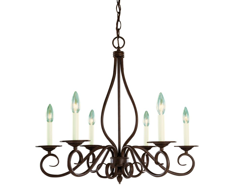 "Savoy House KP-103-6 Oxford 6 Light 25"" Wide 1 Tier Chandelier Sunset"